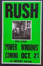 RUSH Power Windows Original New Album Promo Poster LA 1985 Genesis Led Zeppelin