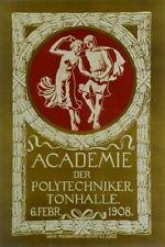 Original Plakat - Academie der Polytechniker - Tonhalle Zürich
