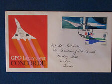First Day Cover - Concorde - Stamped - 3/3/69 Luton