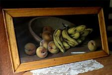 Framed Still Life of Banana & Peaches by J. Califano Artist