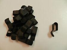 "Trailer Wire Frame Clips 3/8"" - PACK OF (20) Steel, black enamel finish"