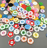 50/100 Pcs Mixed Flower resin buttons fit Sewing Scrapbooking Crafts 12.5mm