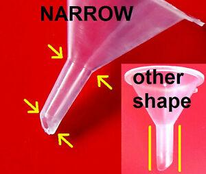 1-100 FUNNEL NARROW NECK mini atomiser small tiny plastic micro 3cm UK