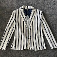weekend maxmara perak striped blazer, Size Xs, New With Tag ,$275