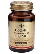 Solgar Coenzyme Q10 100mg 30 Softgels Q-10 Ubiquinone Food Supplement New Sealed