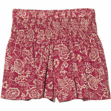 Hand-wash Only Floral 100% Cotton Shorts for Women