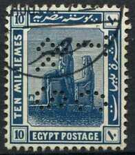 """Egypt 1921-2 SG#92, 10m Blue, """"TC&S"""" Used #D90705"""