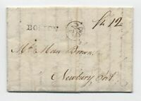 1792 Boston MA straightline stampless ship letter from Denmark [45.73]
