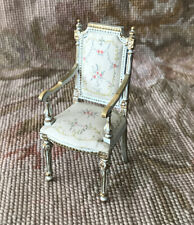 Bespaq Dollhouse Miniature Hand Painted Side Chair Seat White 1142s