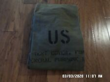 U.S ARMY CANVAS COVER GENERAL PURPOSE TENT COVER STORAGE TARP FLOOR MILITARY