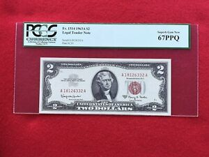 FR-1514 1963 A Series $2 Red Seal US Legal Tender Note * PCGS 67 PPQ Superb Gem*