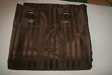 "SIMPLY VERA WANG TUXEDO STRIPE LINED WINDOW PANEL 52""x84"" Brown"