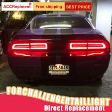 For Dodge Challenger LED Taillights Assembly Dark / Red LED Rear Lamps 2008-2014