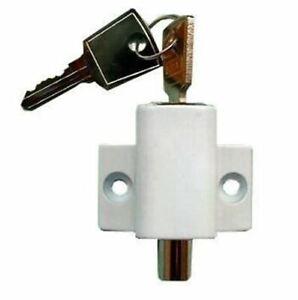 Sliding Patio Door Locks. Security Bolt / Catch for Windows or Doors - White New