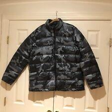 Men's Nike Alliance 550 Down Jacket Grey Camo Size XL Silver Gray THUNDERDOME