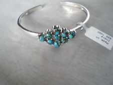Egyptian Turquoise bangle, 8.39 carats in 11.15 grams, of 925 Sterling Silver