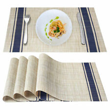 Placemats for Dining Table Set of 4 Woven Vinyl Heat Insulation Stain Resistant