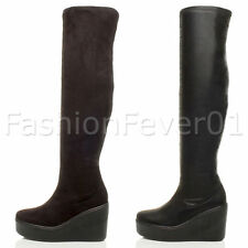 Unbranded Over Knee Zip Synthetic Leather Women's Boots