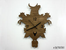 Bulls and Cows Modern Cuckoo clock - Wooden Wall Clock