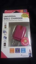Universal Wall charger For Smartphones and Tablets -Pink