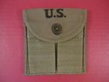 WWII M1 Carbine OD Color Magazine Stock Pouch Dated 1943 - Reproduction