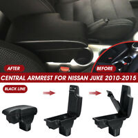 Central Armrest Console Storage Box Cup Handrails W/ USB For Nissan Juke 2010-15