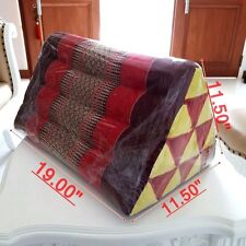 Large thai triangle handmade pillowcases cushion cotton Insert L size kapok pad