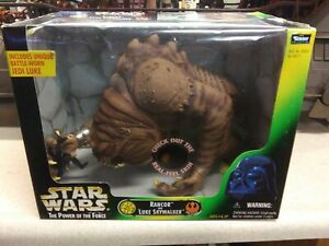 Star Wars Jabba's Rancor and Luke Skywalker Kenner POTF 1998 3.75 Action Figures