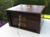 Antique Wooden Mahogany Empty Wellington Style Cutlery Box/Canteen - Finnigans