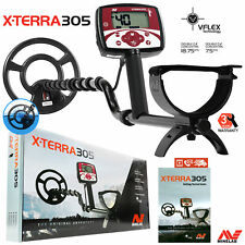 """Minelab X-Terra 305 Metal Detector with 9"""" Search Coil and 3 Years Warranty"""