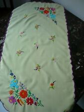HUNGARIAN KALOCSA STYLE TABLE COVER,  HAND EMBROIDERED!
