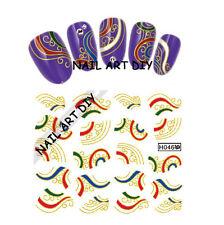 20 Nail Art stickers Water Transfer-Adesivi con Decorazioni d'ORO-BUY 3 GET 4!!!