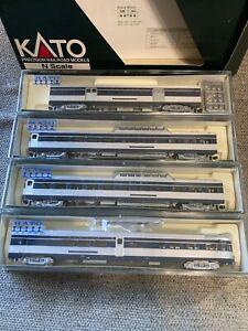 Kato N Scale Wabash Corrugated Passenger Car Set