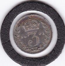 1891   Queen  Victoria  Threepence  (3d)  Silver (92.5%) Coin