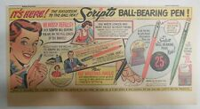 Scripto Pens & Pencils Ad: New Ball Bearing Pen from 1940's Size: 7 x 15 in