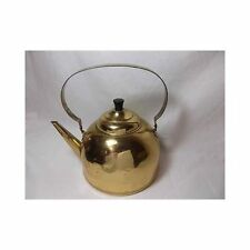 Vtg BRASS TEA KETTLE Marked Fasto plated antique stovetop Kitchen Decor