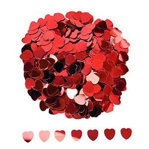 Heart Shaped Confetti 1Pack Metallic Sequin Valentines Party Decoration Supplies