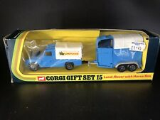 Corgi Gift Set 15 Land Rover With Horse Box - Nr Mint Boxed