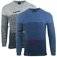 Mens New 100% Cotton Twisted Waffle Cable Sweatshirts Winter Jumper Pullover