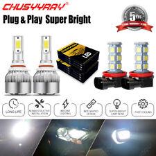 For Fiat 500 2012 - 2019 Combo 4X LED Headlight + Fog Light Lamp Bulbs Kit 6000K