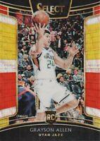 2018-19 Select Basketball Prizms Tri Color #9 Grayson Allen Utah Jazz