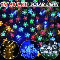 50 LED Solaire 7 Merters Corde Fleur Lumières Jardin Fête Mariage Extérieur