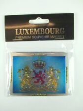 Luxemburg Wappen Luxembourg Premium Souvenir Magnet,Laser Optik,NEU