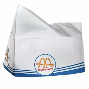 20 Pack Of VINTAGE STYLE MCDONALD'S SODA PAPER HATS CAPS (AUTHENTIC PRODUCTION)