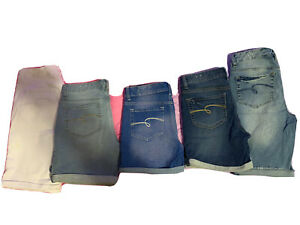 5 Pair Lot JUSTICE STRETCH DENIM SHORTS SIZE 16