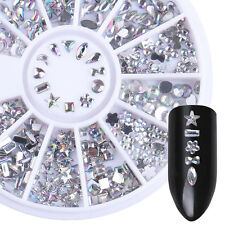 Holographic Rhinestones Star Heart Flower  Mixed DIY 3D Nail Decoration