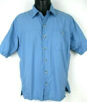 Mountain HardWear Short Sleeve Blue Shirt Men's size Medium M Camp Hike Travel