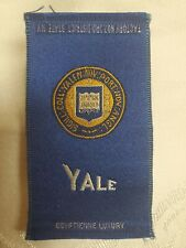 YALE - 1910's Tobacco Egyptienne Luxury Cigarettes Silk, Excellent Condition