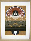 Charley Harper Wing Ding Drumming Ruffed Grouse Hand Signed Serigraph Art Print