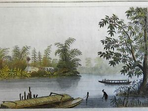 Pasig River Luzon Island Philippines fishing Boats Scenic View 1839 print